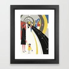 Tube, London Framed Art Print