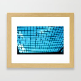 Sky Grid Framed Art Print