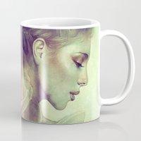 kpop Mugs featuring June by Anna Dittmann