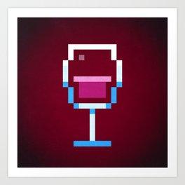 Pixel Wine Art Print