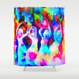 Rainbow Sisterhood Shower Curtain
