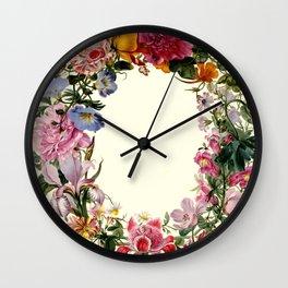 "Johannes van Bronckhorst ""A Wreath of Various Flowers"" Wall Clock"