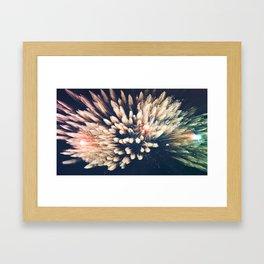 Future lights Framed Art Print