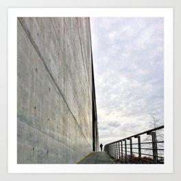 concrete blues Art Print