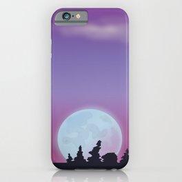 Full moon - night sky iPhone Case