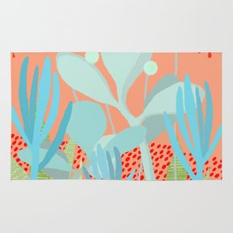 Succulents in the sunshine Rug