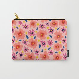 Peach flowerfield Carry-All Pouch