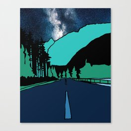 Highway at Night Canvas Print