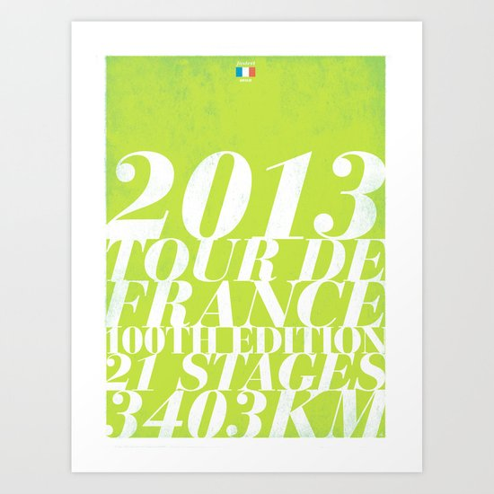 2013 Tour de France: Sprint!  Art Print