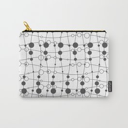 Lines Circle Design Carry-All Pouch