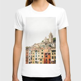 Photo of Portovenere, Cinque Terre Italy | Fine Art Colorful Travel Photography | T-shirt