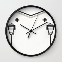 White House With Cross Wall Clock