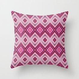 Woven Magenta Throw Pillow