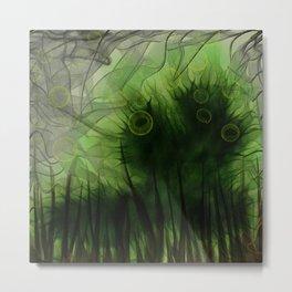 Radioactive Caterpillar Metal Print