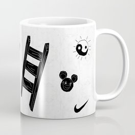 ☯  ~ • ✈ ♈ ☼ ♫ ☥ • ~  ☯ Coffee Mug