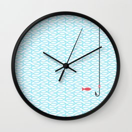 The red fish Wall Clock