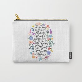Hope and a Future - Jeremiah 29:11 Carry-All Pouch