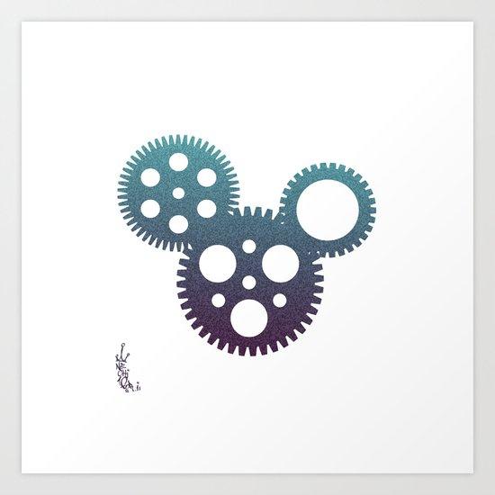 mickey mouse mechanisms Art Print