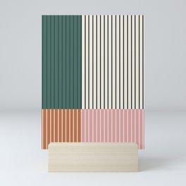Color Block Line Abstract V Mini Art Print
