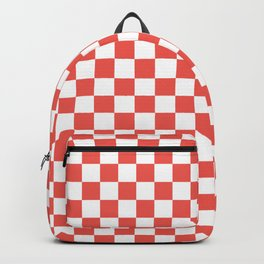 Ichimatsu - Japanese Traditional Pattern - Red Backpack