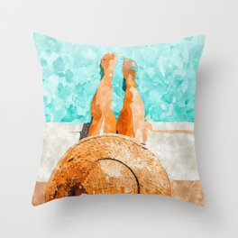 By The Pool All Day Throw Pillow