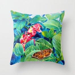 Floral Buffet Throw Pillow