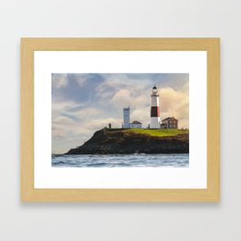 Montauk Lighthouse Framed Art Print