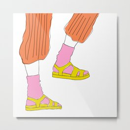 Socks and Sandals Metal Print