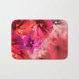 Red Flower Fantasia Bath Mat