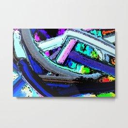 Tangles Abstract wall art Metal Print
