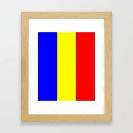 Flag of romania 2 -romania,romanian,balkan,bucharest,danube,romani,romana,bucuresti Framed Art Print