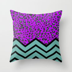 LEOPARD CHEVRON 2 Throw Pillow