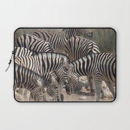 Zebras at watering hole - Greg Katz Laptop Sleeve