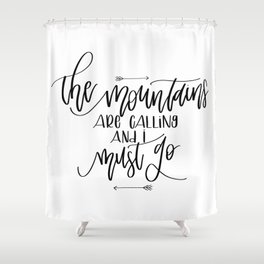 Mountains v.1 Shower Curtain