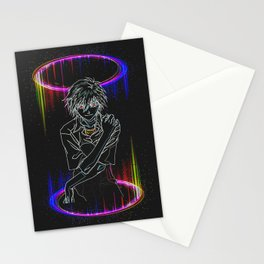 Kaworu Nagisa Neon Style Stationery Cards