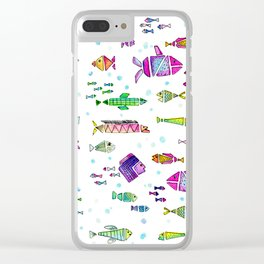 Catch all the fish! Tropical and colorful fishes swim in shoals Clear iPhone Case