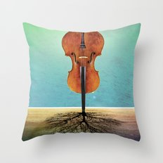Rooted sound. Throw Pillow