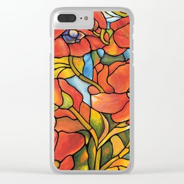 Red Poppy Lamp Clear iPhone Case