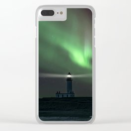 When the northern light appears Clear iPhone Case