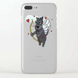 Cupid Scottish Terrier Clear iPhone Case