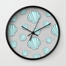 Sea shell jewel pattern Wall Clock