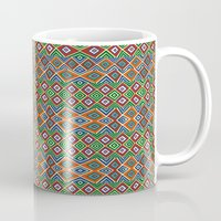 african Mugs featuring african pattern by d.ts