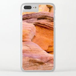 Colorful Sandstone, Valley of Fire State Park Clear iPhone Case