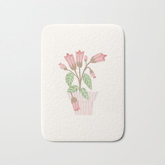 Flower In a Pot Bath Mat