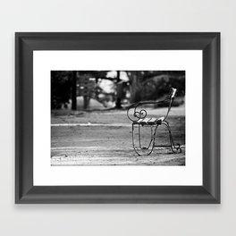 Solitary Park Bench Framed Art Print
