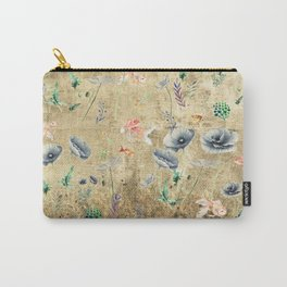 Fishes & Garden #Gold-plated Carry-All Pouch