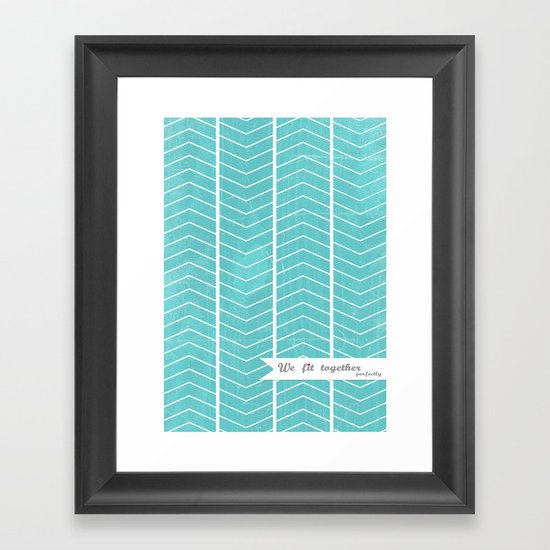 We Fit together perfectly Framed Art Print