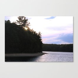 Sunset at Concord's Walden Pond Canvas Print