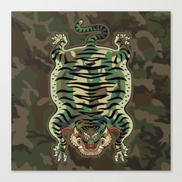 TIBETAN TIGER - CAMOUFLAGE Canvas Print