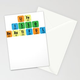 Science Periodic table Element Life Gift Stationery Cards